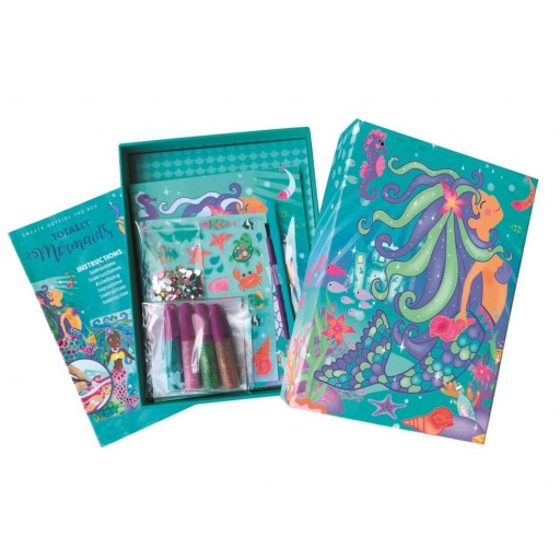 Set de manualidades de papel y purpurina.