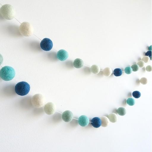 Guirnalda mix colores: azul marino/blanco/mint/agua/turquesa [1]
