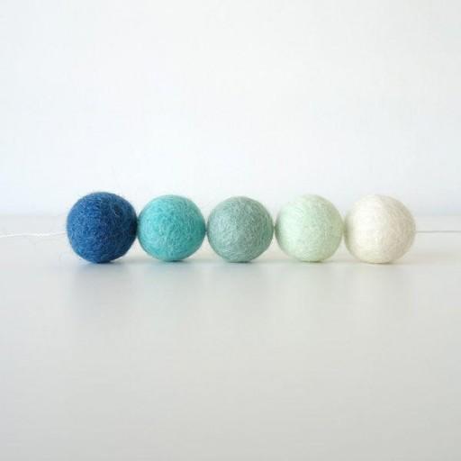 Guirnalda mix colores: azul marino/blanco/mint/agua/turquesa [3]