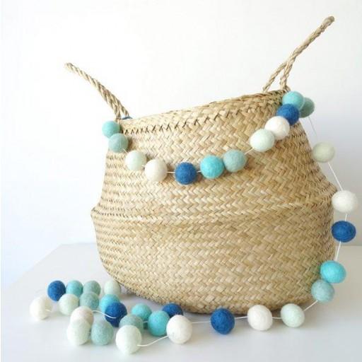 Guirnalda mix colores: azul marino/blanco/mint/agua/turquesa [2]