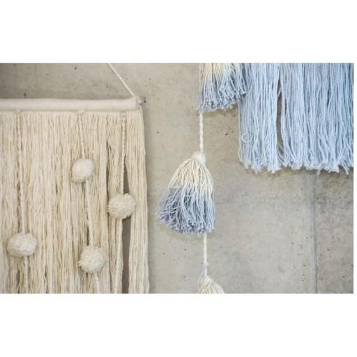 """Guirnalda Pompones """"Lorena Canals"""" mod. Tie-Dye Azul Claro [2]"""