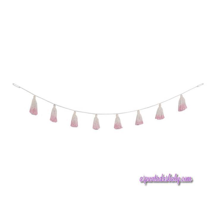 """Guirnalda Pompones """"Lorena Canals"""" mod. Tie-Dye rosa"""