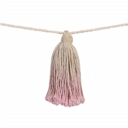 """Guirnalda Pompones """"Lorena Canals"""" mod. Tie-Dye rosa [1]"""