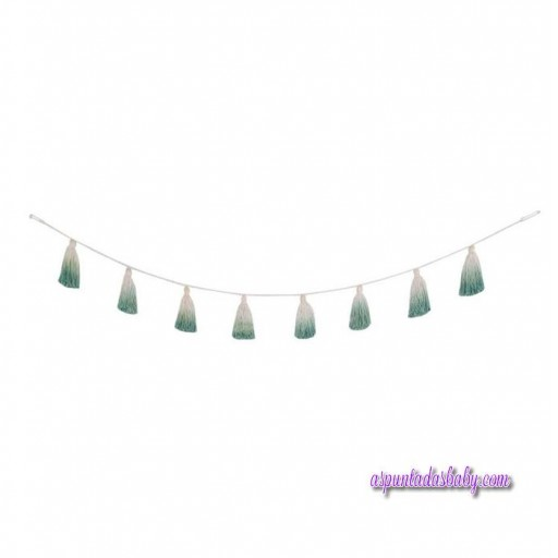 "Guirnalda Pompones ""Lorena Canals"" mod. Tie-Dye Verde"