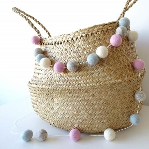 Guirnalda mix colores: rosa / beige/ azulito / gris [1]