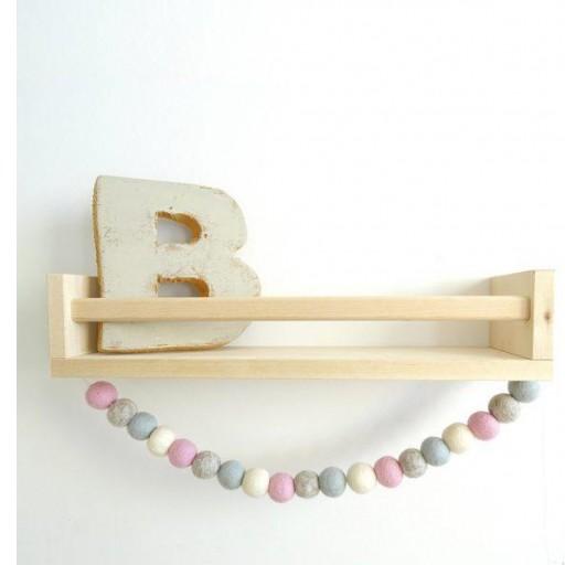 Guirnalda mix colores: rosa / beige/ azulito / gris