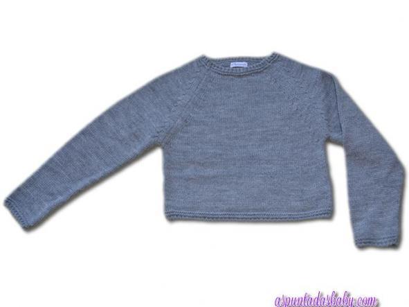 Jersey Ancar niña color gris media