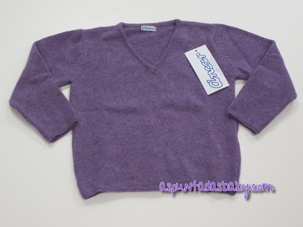 Jersey de pico Ancar otoño-invierno color lila.