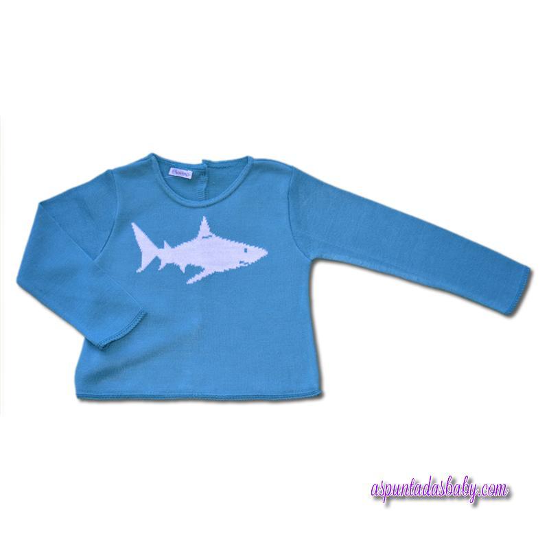 Jersey Ancar Mod. Tiburón color turquesa.