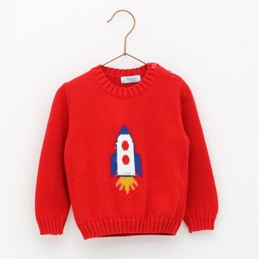 Jersey Foque mod. Cohete color rojo.