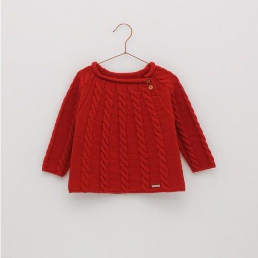 Jersey básico ochos Foque Colección Christmas color rojo.