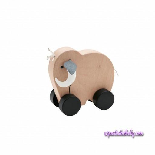 Juguete mamut con ruedas