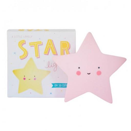Mini Lámpara Estrella Rosa - 14 cms. [1]