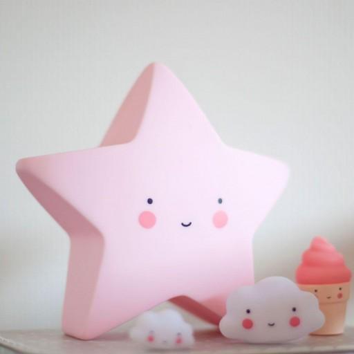 Mini Lámpara Estrella Rosa - 14 cms. [2]