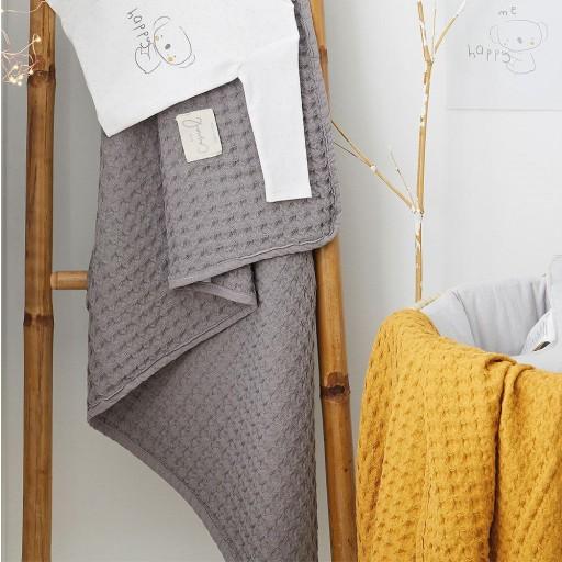 Manta Crochet Bimbidreams color marengo.  [1]