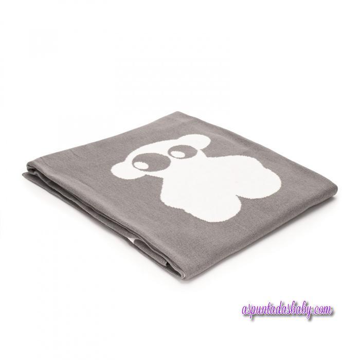 Manta reversible Baby Tous mod. Nilo color gris .