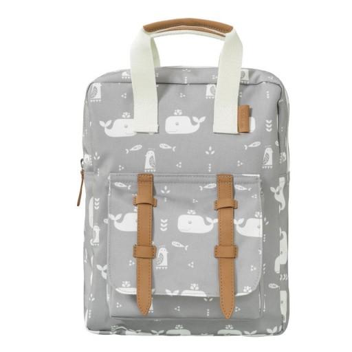Mini mochila Fresk mod. Ballena gris
