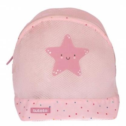 Mochila Playa Infantil Antiarena Dots Pink