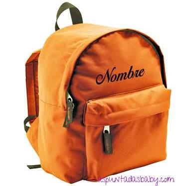 Mochila Mini-Kids color naranja.  [1]