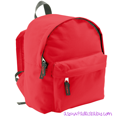 Mochila Mini-Kids color rojo.