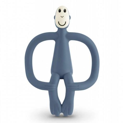 Mordedor Matchstick Monkey de silicona azul palo