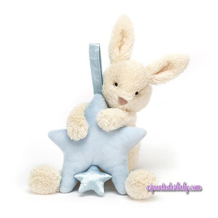 Star Bunny Blue Musical Pull