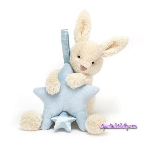 Star Bunny Blue Musical Pull [0]