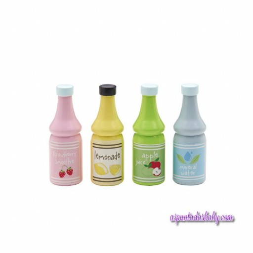 Pack 4 botellas madera