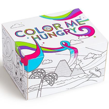 Pack vajilla Splash con caja para pintar Morado [1]
