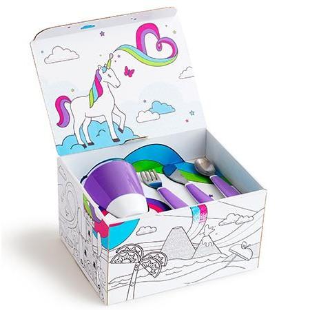 Pack vajilla Splash con caja para pintar Morado [2]