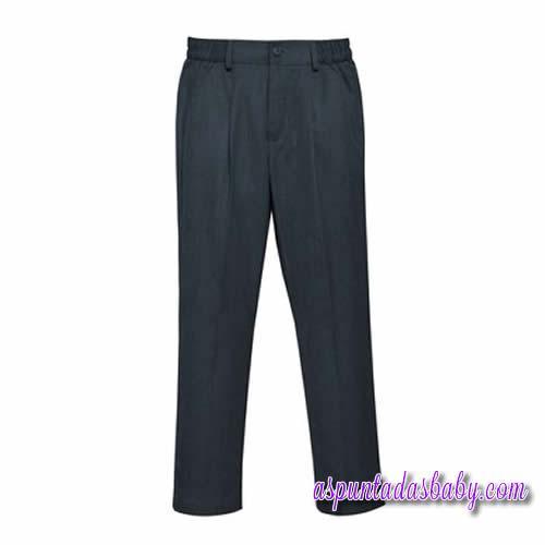 Pantalón colegial Roly color marino / color gris