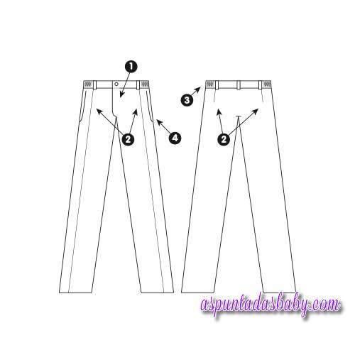 Pantalón colegial Roly color marino / color gris [1]