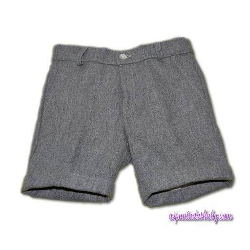 Pantalón corto Ancar franela color gris.