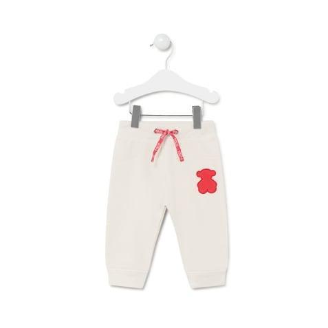 Pantalón deportivo Baby Tous mod. Casual Crudo
