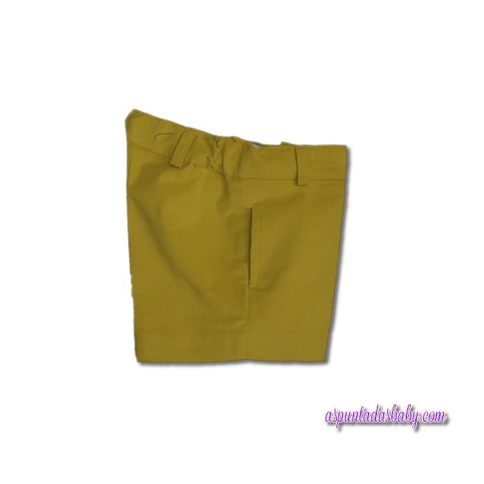 Pantalón corto Ancar color amarillo.
