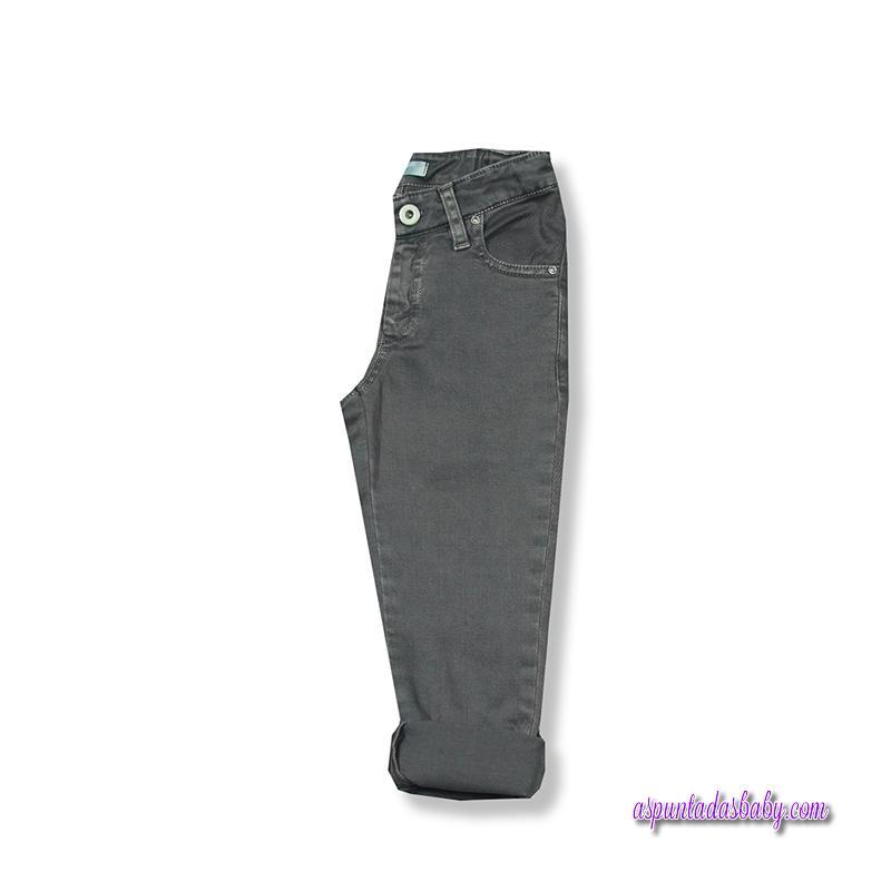Pantalón básico foque color gris.