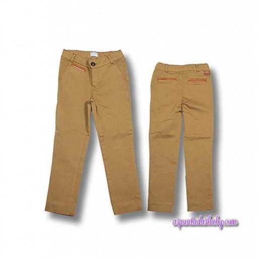 Pantalón Foque mod. Básico color mostaza.