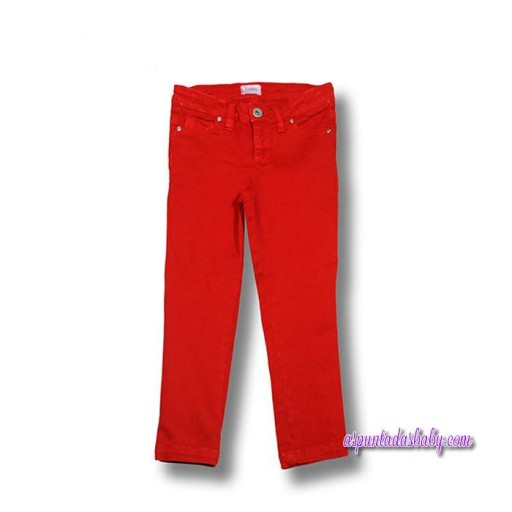 Pantalón Foque mod. Básico color rojo.