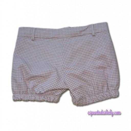 Pantalón niña Ancar pata de gallo rosa-gris.  [1]