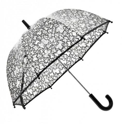 """Paraguas transparente """"Baby Tous"""" mod. Kaos negro."""