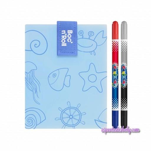 Portabocatas Boc'n'Roll  mod. Azul Sea + 2 rotuladores