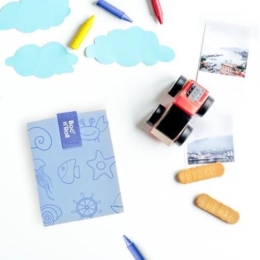 Portabocatas Boc'n'Roll  mod. Azul Sea + 2 rotuladores  [1]