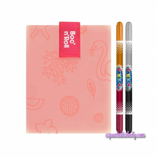 Portabocatas Boc'n'Roll  mod. Naranja Flamingo + 2 rotuladores