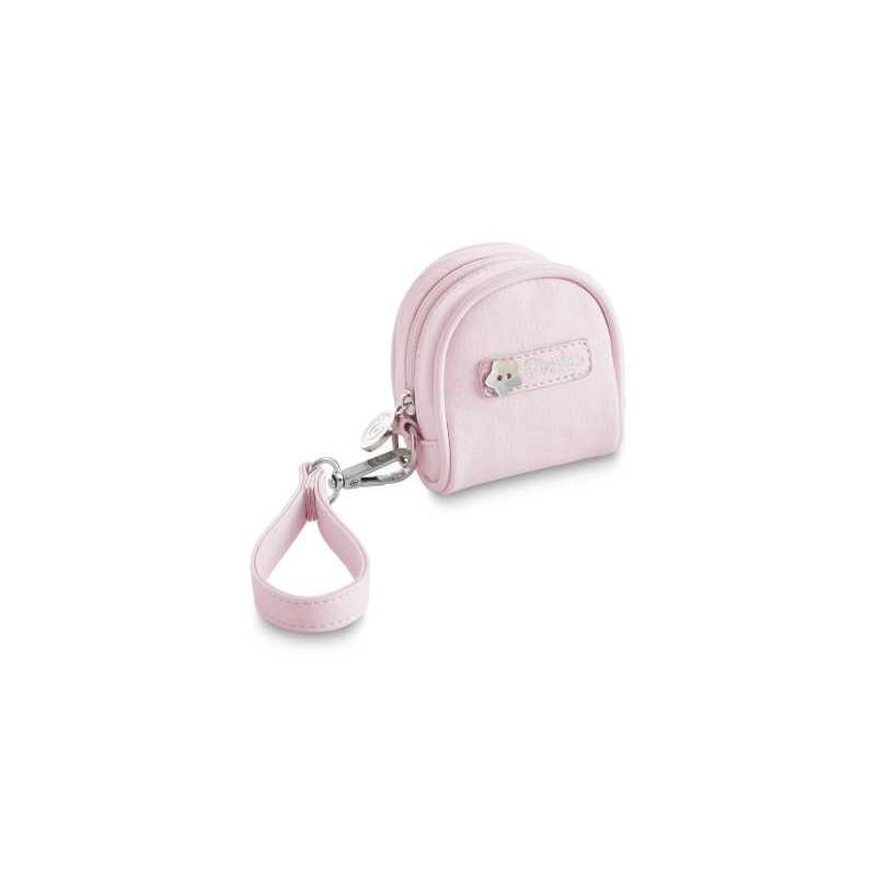 Funda portachupete ecopiel Rombos de Pirulos color rosa