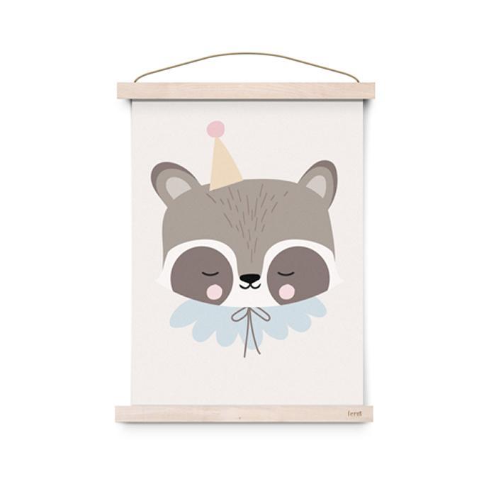 Póster A3 Circus Raccoon