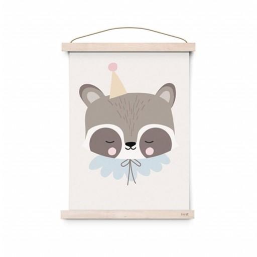 Póster A3 Circus Raccoon [0]