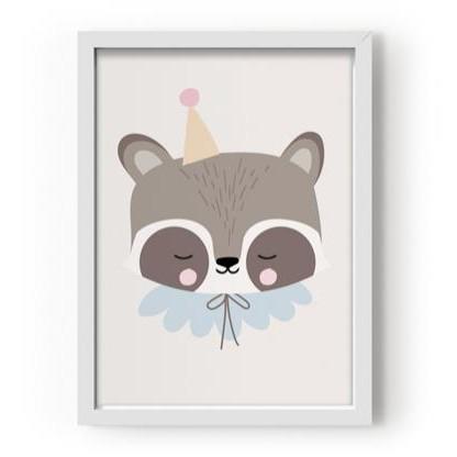 Póster A3 Circus Raccoon [2]