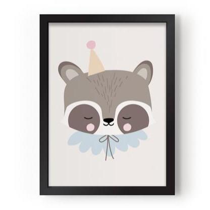 Póster A3 Circus Raccoon [1]