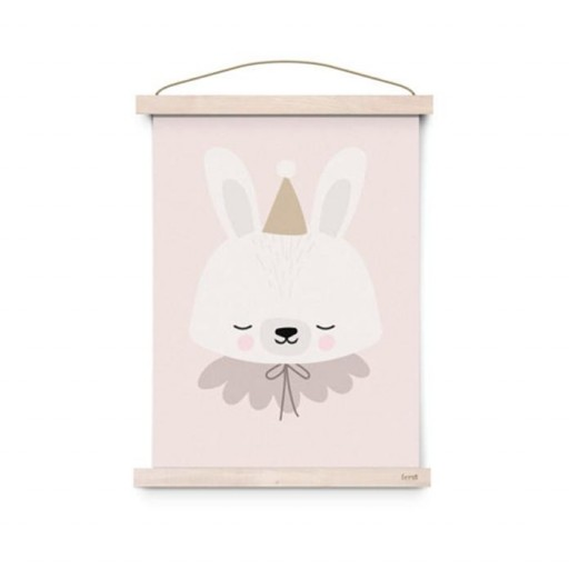 Poster A3 Circus Bunny