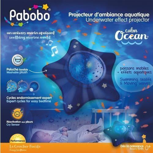 Proyector nocturno tranquilizador Pabobo Océano Azul [2]
